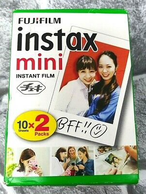 Fujifilm Instax Mini Instant Film 2 Pack Total 20 Sheets Use By 04/2021 New!