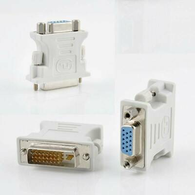 15-Pin VGA Female to 24+1 pin DVI-D Male Adapter Video Converter for PC Laptop