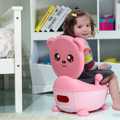 3-in-1 Baby Potty Chair Toddler Children Kids Training Toilet Seat Portable Pink