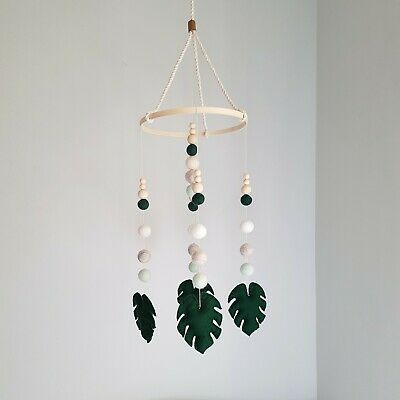 NEW - Handmade Dreaming Co. - Monstera Leaf Baby Crib Mobile - RRP $87.00
