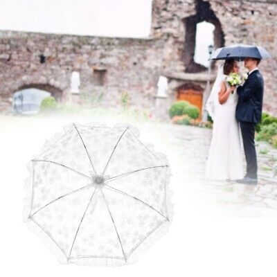 Embroidery Hollowed Lace Parasol Wedding Dancing Bride Umbrella Party Decor Prop