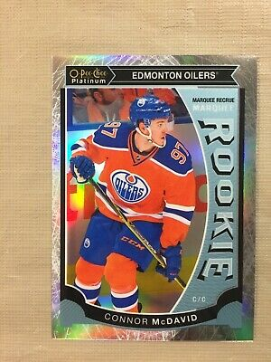 2015-16 OPC O Pee Chee Platinum Connor McDavid Rookie RC WHITE ICE /199 Oilers