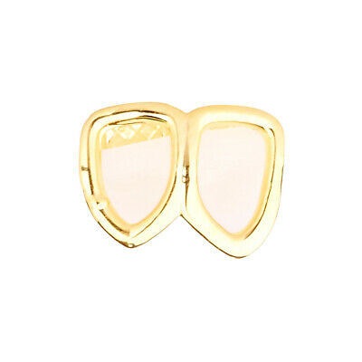 .iced-out Double Zahn Grill Gold One Size fits All