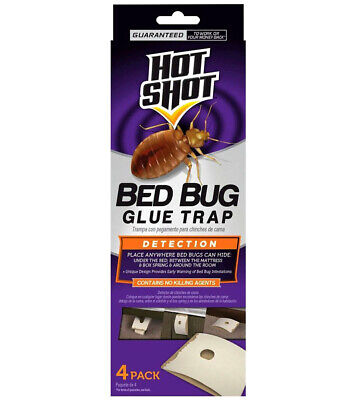 4 Count Hot Shot Disposable Multi-Functional Household Bed Bug Glue Traps