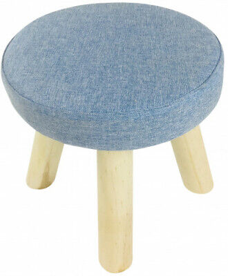 Blue Fabric Foot Stool Home Decor New Home Stools Gift