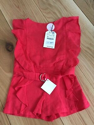 Girls Zara Red Lining All In One Size 5
