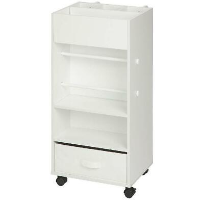 Utility Cart with Fabric Drawer, White , Extra Storage