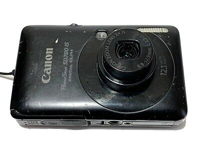 Canon Powershot SD780 IS Digital Elph 12.1MP Camera 8GB SD Card Battery Charger