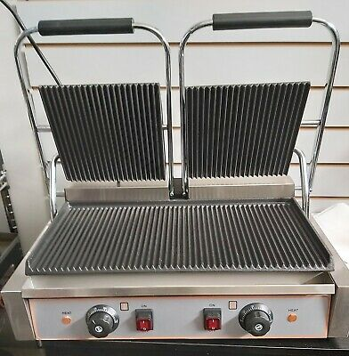 Commercial Electric Double Sided Twin Contact Grill Panini Maker