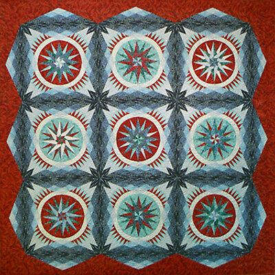 """""""Out of the blue"""" Anleitung für Quilt ca. 68""""x 68"""" (ca. 170x170cm) Be Colourful"""