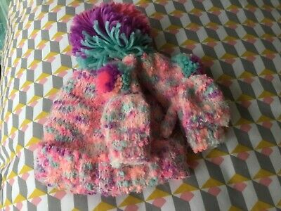 Girls Next Hat & Gloves Set 3-4 Years Bnwt