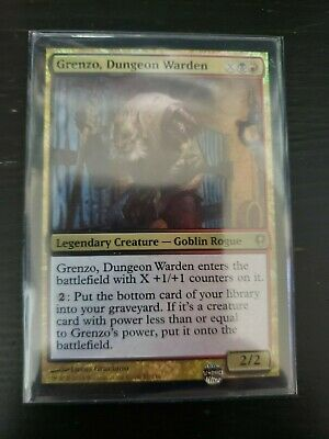 Foil New Conspiracy MTG 2B3 Grenzo Dungeon Warden