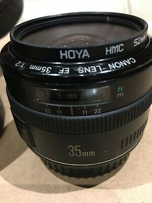 Canon EF 35mm f2 Wide Angle EF Mount Lens from Japan #1738+EXTRAS(SEE PHOTOS)