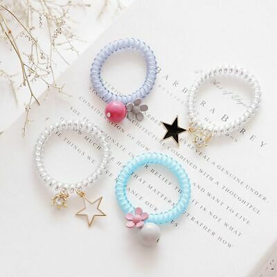 Elastic Phone Line Candy Color Ponytail Holder Hair Rope Cute Flower Hairband