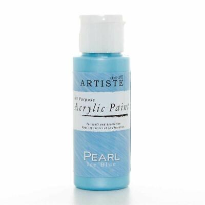 DoCrafts Artiste Pearl Ice Blue Acrylic Craft Paint - 59ml / 2oz Bottle