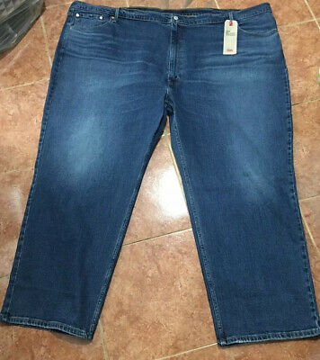 """Levi's Big And Tall Blue Jeans 559 Relaxed Fit Stretch 60"""" Waist 32"""" Long"""