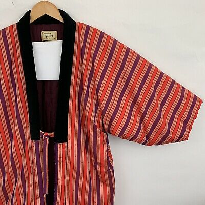 Japanese Womens L Kuwano Kimono Hanten Padded Short Winter Jacket Coat Color 47