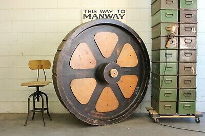 "61"" Antique Vintage Industrial Gear Wheel Wood Foundry Factory Pattern Mold Huge"