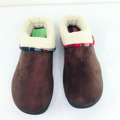 VONMAY Men's 11-12 Fuzzy Slippers House Shoes Memory Foam Slip On Wool Fleece