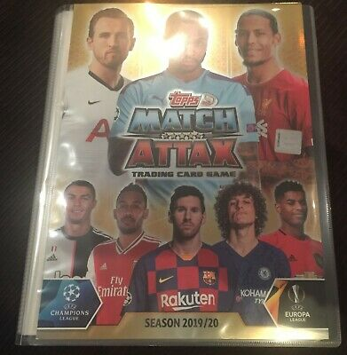 Match Attax 2019/20 folder album with 248 base cards + salah + super squad set