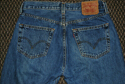 Mens light wash blue LEVIS 501XX jeans classic STF button fly 32 x 34 (actual)