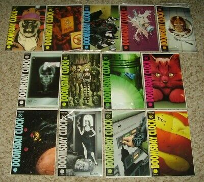 DOOMSDAY CLOCK 1-12 + #1 RORSCHACH LENTICULAR VARIANT NM 1st Prints WATCHMEN