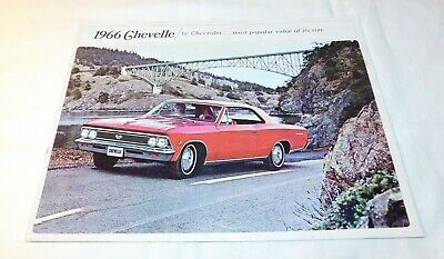 1966 Chevrolet Chevy Chevelle Advertising Sales Brochure Book