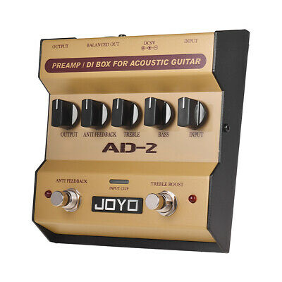 Portable Preamp DI Box Guitar Effect Pedal W/5 Basic Tune Adjustment Knobs J5T4
