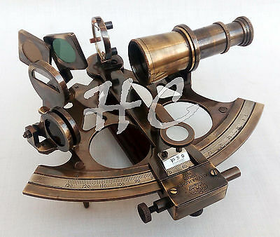 Maritime Nautical Brass Sextant Vintage AstrolabeShip Instrument Marine Antique