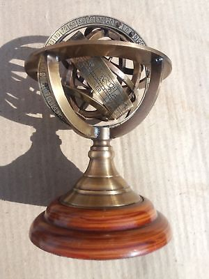 Nautical Brass Sphere Solid Vintage Armillary Collectible Nautical Decor Gift