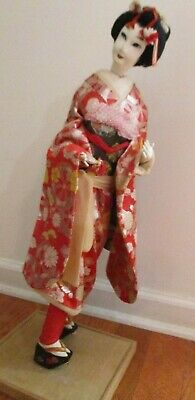 Vintage Japanese Doll Japanese Dancer Maiko in Kyoto by Nishi 24in. tall Reduced