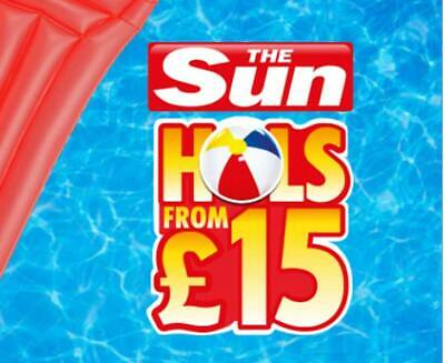 The Sun Holidays Booking Codes £9.50  ALL 7 Token Code Words -