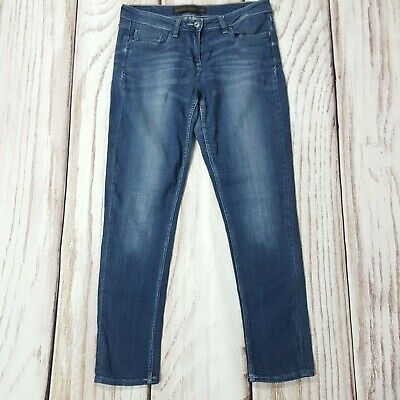 Next Relaxed Skinny Stretch Jeans Mid Blue Size 10 R