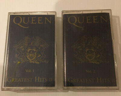 QUEEN -  Spanish CASSETTE TAPES - GREATEST HITS II ( Vol 1 & 2 )