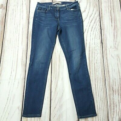 Next Relaxed Skinny Stretch Mid Blue Jeans Size 12 XL