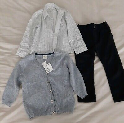 H&M Baby Boy Toddler Cardigan Next Trousers Shirt 12-18 Months New