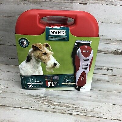 Wahl Professional Animal Deluxe U-Clip Pet, Clipper & Grooming Kit New Open Box