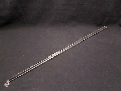 "Button Type 17 3/4"" Polished Glass Stirring Shaft Bar 450mm x 10mm OD Chipped"