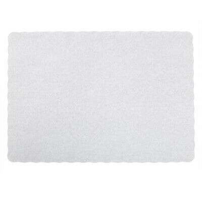 "Royal Stirling White 9.5"" x 13.5"" Scalloped Placemats, Package of 1,000, WSS914"