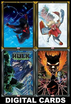 Topps Marvel Collect COMIC BOOK DAY Jan 8th 2020 [4 CARD GOLD/SILVER SET] Star+