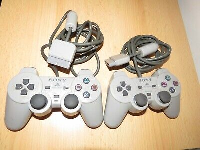 PS1 Playstation 1 - Official Sony Dual Shock Controller pad working x2