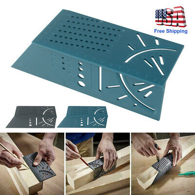 3D Measuring Tool Gauge Ruler Square Mitre Angle Size Measure For Wood working