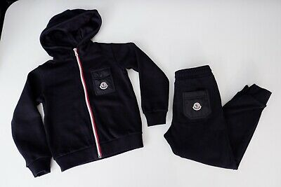 Moncler Black Tracksuit Hoodie & Bottoms Age 6 Size 116cm Years  Immaculate