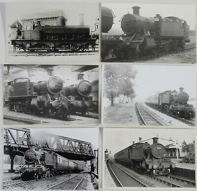 6 GWR Tank Engine Photos - Great Western Railway - Lot 187