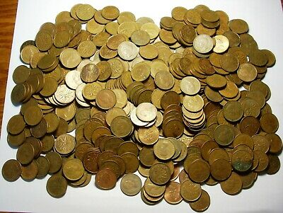 Canada cents lot of 500 King George V VI QE2 Nice Mix 10 Rolls 1920's-2000's