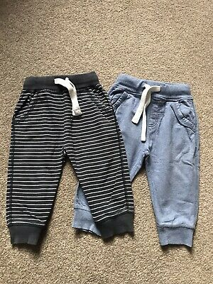 Next Boys Nautical Joggers Aged 12-18 Months X2