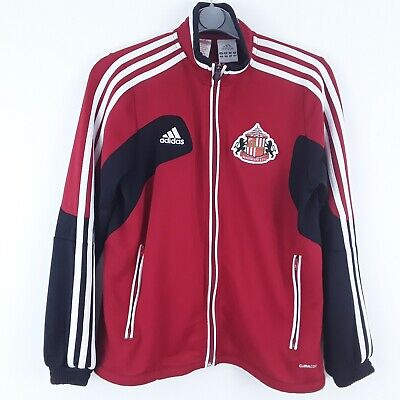 Sunderland Afc Football Club Adidas Red Tracksuit Top Jacket Size 11/12 Years