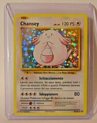 Lotto Carte Pokemon Chansey 70/108 Holo Rara Evoluzioni Set Base ITA