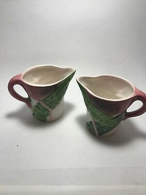 Flamingo a creamer pitcher bowl  old ceramic c1997 21 years old NOS