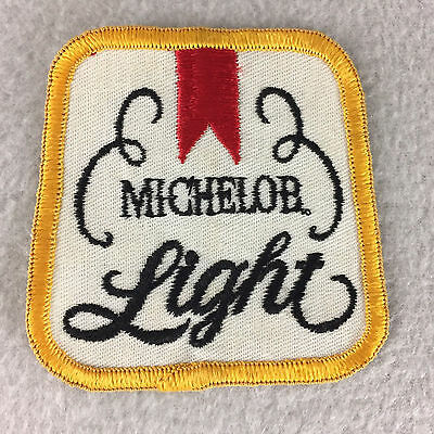 "Vintage Michelob Light Beer Patch Cloth Sew On 1970's 3"" x 3"""